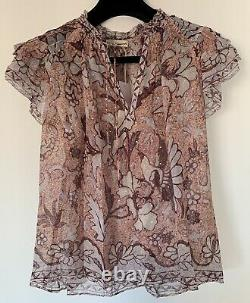 NWT Authentic Ulla Johnson Alexi Blouse Top In Blush Size 4 US $375
