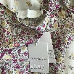 NWT Authentic ZIMMERMANN Carnaby Tie-Shoulder Midi Dress size 1