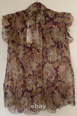 NWT Authentic ZIMMERMANN Ladybeetle Ruffled Floral Blouse Size 0 (4 US) $425