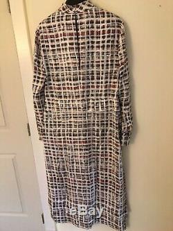 NWT Burberry London Silk dress Tie Neck US size 4 Mid length dress. Ori $1790