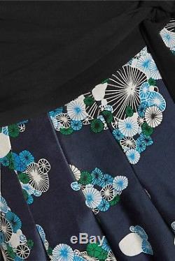 NWT DVF DIANE VON FURSTENBERG Jewel Self-tie Wool Blend Wrap Dress$548