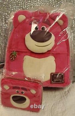 NWT Disney Loungefly Lotso Mini Backpack & Wallet