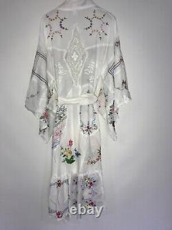 NWT Fillyboo Dream In Color Kimono Duster Jacket Top Size XS Embroidered