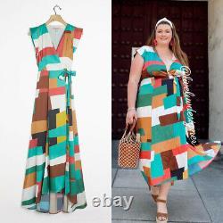 NWT HUTCH Anthropologie Alfonsine Wrap Maxi Dress S Small