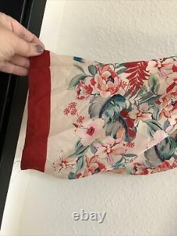NWT Johnny Was Jade Kimono S Pockets Tassel Tie Floral Multicolor