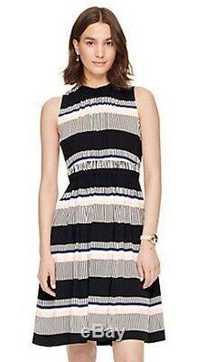 NWT Kate Spade Bay Stripe Tie Back Multi Color SZ 12 Dress