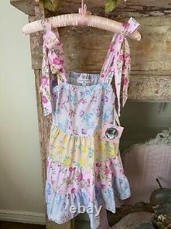 NWT LoveShackFancy Target Jeanne Floral 100% Cotton Tie Strap Babydoll Dress XS