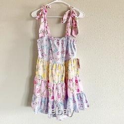 NWT LoveShackFancy Target Jeanne Tiered Tie Strap Floral Mini Shift Dress Sz XS