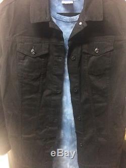 NWT Lularoe Outfit MARIA BLUE TIE DYE ACID WASH LARGE & JAXON BLACK XL
