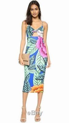 NWT Mara Hoffman Tie Front Multi Floral Print Dress Sz M SOLDOUT