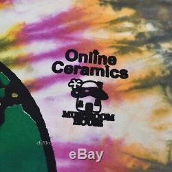 NWT Online Ceramics Humankind Be Both Tie Dye Logo T-Shirt M SS19 DS AUTHENTIC
