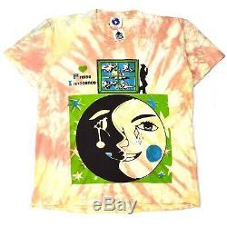 NWT Online Ceramics Mens Peach Tie Dye Little Toke Logo Print T-Shirt AUTHENTIC