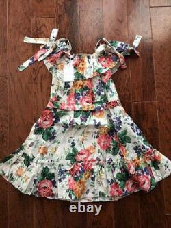 NWT Zimmermann Women's Allia Tie Linen Short Dress with pocket Size 2