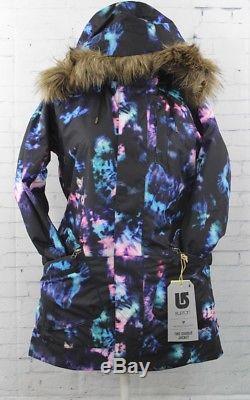 New 2016 Burton Womens TWC Charlie Snowboard Jacket Small Tie Dye