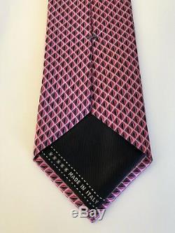 New 2019 $205 Ermenegildo Zegna Tie TRULY STUNNING Pink Soft Creamy Silk RARE