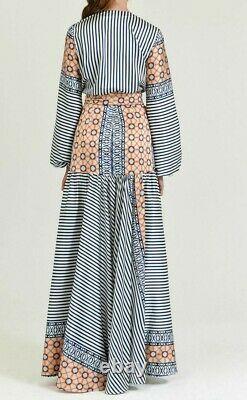 New 2021 $2200 Silvia Tcherassi Felicity Long Maxi Dress Kaftan Wrap Gown 0 2 XS