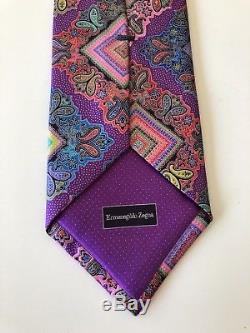 New $385 Ermenegildo Zegna VENTICINQUE Tie EXOTIC DESIGN #119 Silk Limited RARE