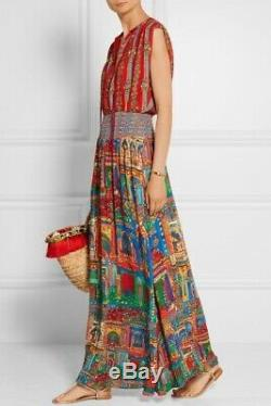 New Alice + Olivia Lorelle Havana Town Tie-Neck Maxi Dress, Size 4