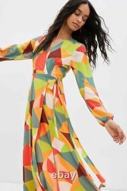 New Anthropologie Hutch Lysette Wrap Maxi Dress Size XL NWT