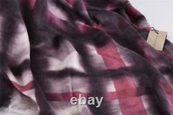 New Burberry $550 Modal & Cashmere Pink Tie Dye XL Nova Check Shawl Scarf