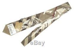 New Burberry Luxury Classic Smoked Trench Check 100% Silk Tie