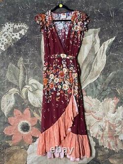 New Farm Rio for Anthropologie Tesorina Wrap Dress sz 2X