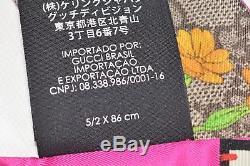 New Gucci Women's Flora GG Guccissima Silk Skinny Neck Bow Tie Bandeau Scarf