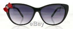 New Ladies Womens Girl Hello Kitty Style Black Frame Cat Eye Sunglasses Bow Tie