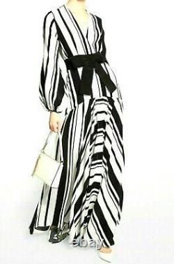 New NWT $1900 Silvia Tcherassi Filomena Stripe Maxi Long Gown Dress US 4 6 SMALL
