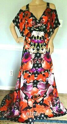 New NWT $2,295 Temperley London Strappy Myrtle Long Maxi Dress Gown UK 8 / US 4