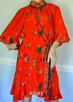 New NWT 2020 $700 Camilla Franks Cinema Paradiso Kaftan Gown Wrap Dress 2 MEDIUM