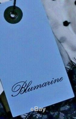 New NWT Blumarine Polka Dot Lace Trim Off Shoulder Tie Dress US 4 6 / IT 42