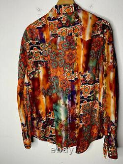 New Polo Ralph Lauren Large Western Shirt Aztec Tie Dye RRL Indian VTG 70s Rodeo