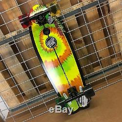New Santa Cruz Land Shark Cruzer Rasta Tie Dye Complete Skateboard 8.8 x 27.7