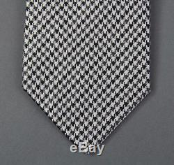 New Tom Ford Luxurious Black & White Houndstooth Silk Tie NWT
