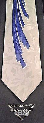 New Vitaliano Pancaldi Men's Necktie 100% Silk Abstract