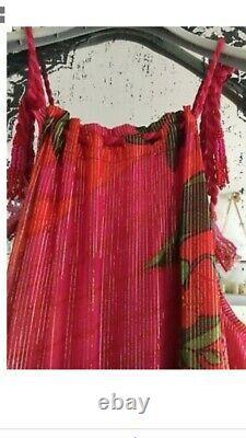 New Womens Farm Rio Stunning Pink Pietra Tropical Sun Flowy Midi Dress XS & S