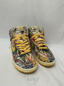 Nike 728443-100 Womens Sz 6.5Y Dunk High Premium Scribble Multicolor Shoes