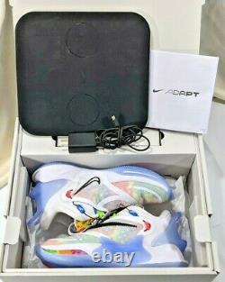 Nike Adapt BB 2.0 Tie-Dye Shoes BQ5397-100 Mens Size 7.5 withBox & Charging Pad