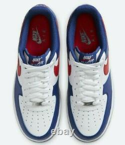 Nike Air Force 1'07 White University Red Americana CZ9164-100 Men's Shoes NEW