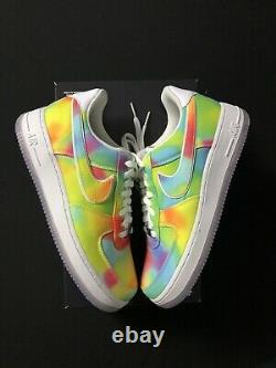 Nike Air Force 1 Low Tie Dye Chicago Summer Of Peace Size 10.5 CK0838-100