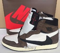Nike Air Jordan 1 High OG TS SP Travis Scott Sail/Blk/Mocha CD4487 100 Size 11.5