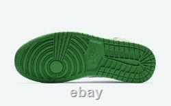 Nike Air Jordan 1 Mid SE Shoes Lucky Green Yellow White 852542-101 Men's NEW