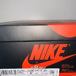 Nike Air Jordan 1 Retro High OG Mens Size 8.5 Black Red Bloodline 100% Authentic