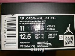 Nike Air Jordan 4 PSG Paris Saint-Germain Sneakers Size 11 Used