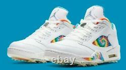 Nike Air Jordan V 5 Golf P Peace Love & Golf CW4205-100 Men's Size 10
