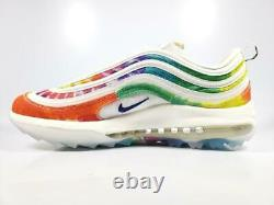 Nike Air Max 97 G NRG Spikeless Golf Shoes CK1219-100 Mens Size 13 Tie Dye