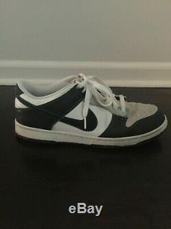 Nike Dunk Low Men's Size 9.5 White Green Navy Snakeskin