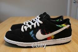 Nike Dunk Low Pro IW Ishod Wair Tie Dye Black 819674 019 Size 11.5 Travis Scott