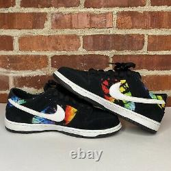 Nike Dunk Low Pro SB Rainbow Tie Dye Ishod Wair Size 9 (819674-019) USED
